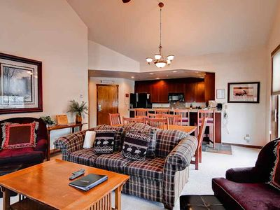 Photo for This spacious condo overlooks the mountain, close to hiking & biking tralis