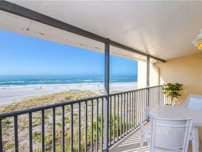 Photo for Direct Beach & Gulf Views from Covered Balcony Granite Kitchen & Upgrades Sleeps 4 - Free Wifi
