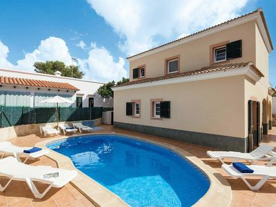 Photo for 4 bedroom Villa, sleeps 8 in Cala Blanca with Pool and WiFi