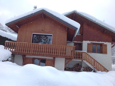 Photo for Family chalet facing Mont Blanc