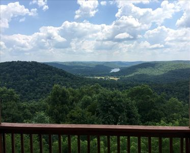 Photo for Victory View, Giant Vista of Lake Leatherwood Valley, Large Decks, Spa Tub for Two, Fireplace
