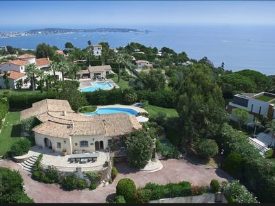 Photo for Beautiful Luxury villa in Supper Cannes, Sea view, Tennis court,