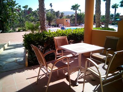 Photo for Corralejo Charming Apart,3 pools, private patio,200mt withe beach&center, WIFI