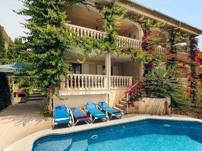 Photo for Large house Can Soler for 8 persons with sea view and pool.