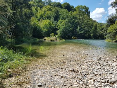 Photo for Mobilhome 4-6 pers Drôme Vercors in campsite with swimming pool and river