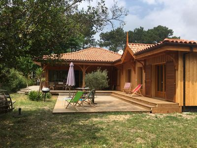 Photo for New wooden villa in Petit Piquey, 5 bedrooms