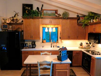 Our kitchen has everything you could possibly need. Newly remodeled.