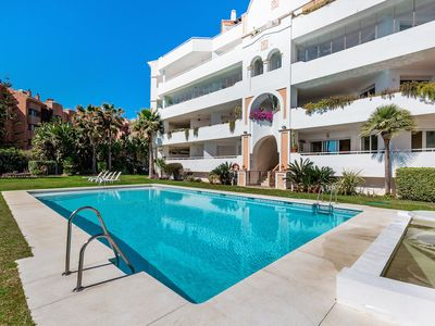 Photo for Stunning, luxurious apartment with sea views, Puerto Banus Marbella.
