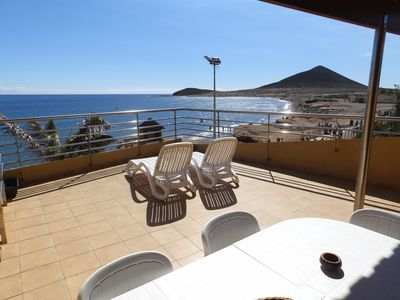 Photo for Nice Duplex with large terrace frontline Medano Beach