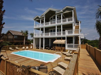 Photo for 16 BR/18 bath, Sleeps 60 OCEANFRONT with pool/elevator! 2068 New River Inlet Rd
