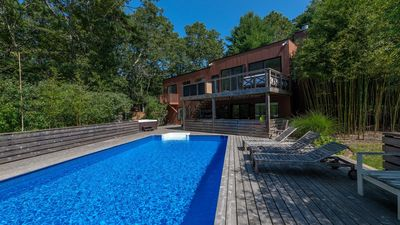 Photo for New Listing: Contemporary & Family-Friendly in East Hampton, Outdoor Entertaining w/ Pool & Hot Tub