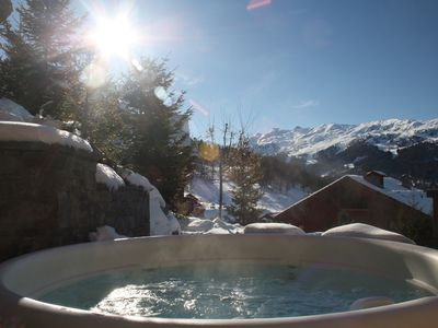 Photo for Chalet with Jacuzzi - MeribelLuxury Apartment