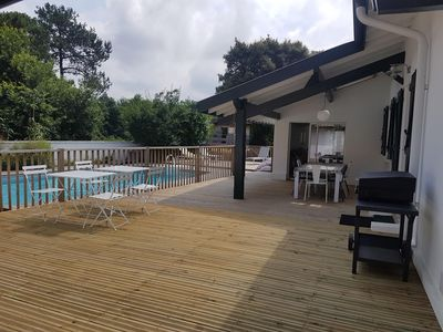 Photo for Renovated, quiet Landaise house with swimming pool in Capbreton