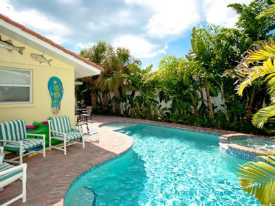 Photo for Tropical-style family home w/a private pool, spa, & plenty of room!