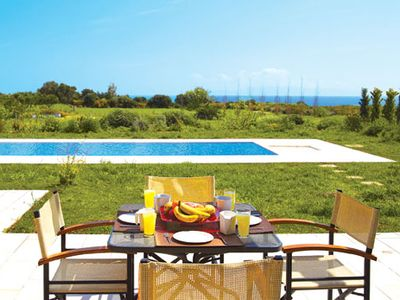 Photo for Stylish villa ideal for couples, with pool and Wi-Fi, surrounded by beautiful gardens, close to resort