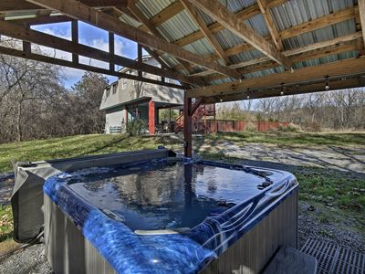 Photo for NEW! Rustic Luray Home on River w/ Pool & Hot Tub!