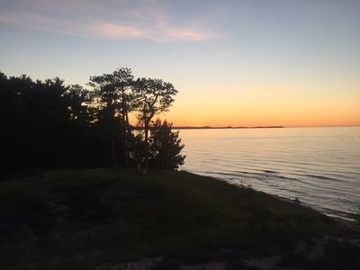 Photo for Cabin with Stunning Sunsets, Lake and Beach Views minutes from town and Munising