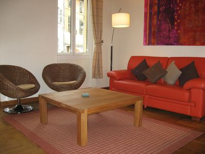 Photo for Spacious 1 bedroom apartment, sleeps 4, 100m to the Palais, Croisette & old Port