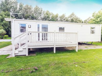 Photo for 6 berth caravan for hire with decking Southview Holiday park Skegness ref 33143