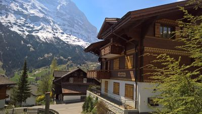 Photo for Apartment Grindelwald, 300 m from the center, mountain view