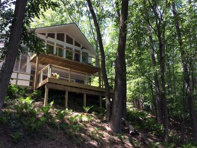 Photo for Newly renovated lake house, fenced in home on Duck Lake, pontoon, pet friendly