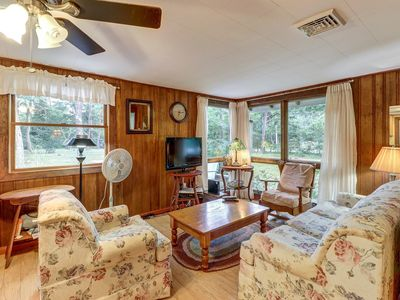 Photo for Comfy cabin w/ deck, firepit, and bike path access - walk to Nauset Light Beach!