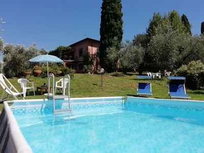 Photo for Villa Paola , peace among the olive trees in Lucca. airco exclusive pool
