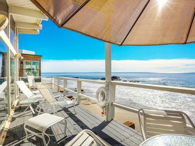 Photo for 2BR, 2BA Beachfront Home w/ Panoramic Ocean Views - 2.7 Miles to Malibu Pier