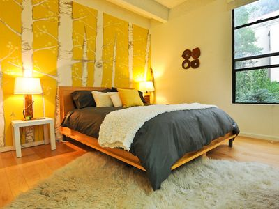 Photo for HIP CONDO on Creek & Steps from Main St- 3 TVs, WIFI, Spa