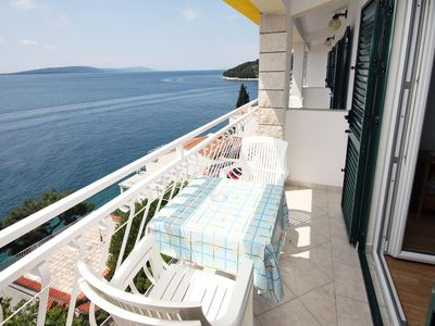 Photo for Studio flat with balcony and sea view Drvenik Gornja vala (Makarska)