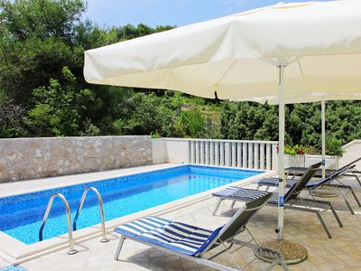 Photo for This 5-bedroom villa for up to 10 guests is located in Splitska and has a private swimming pool, air