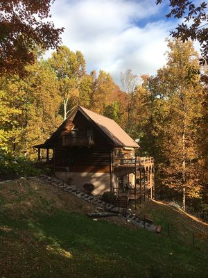 Photo for Beautiful Secluded Mountain Cabin, Vaulted  Ceilings, Huge Decks, Great Views !