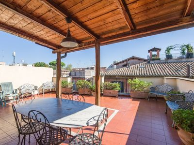 Photo for Apartment 235 m from the center of Rome with Internet, Air conditioning, Terrace, Washing machine (9773)