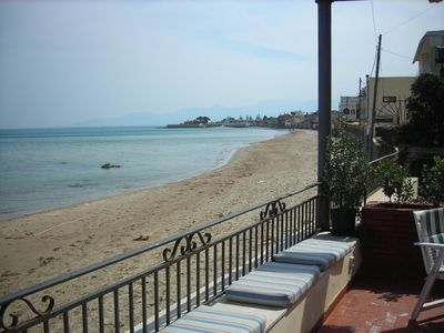 Photo for Villa on the beach with terrace, from 6 to 12 beds