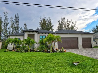 Photo for Beautiful brand new built home in Cape Coral, private pool, and on the water.