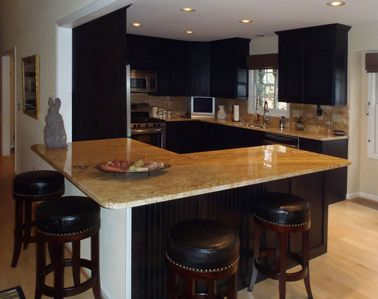 Newly Renovated Kitchen with stainless steel appliances and granite counter tops