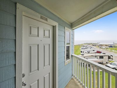 Photo for Direct Beachfront view soothing sunrises from your bedroom window invite you Seascape 1208