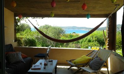 Photo for sea view house 10 minutes walk from the beach Pero in a quiet residence
