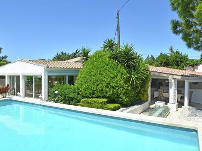 Photo for Detached holiday home with private swimming pool and garden with outdoor kitchen in France