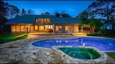 Photo for Waterfront Property With Outdoor Pool, Hot Tub And Fireplace.