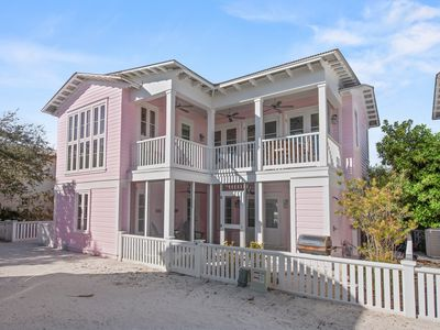 """Photo for """"Sisters Three by the Sea"""" is located on 30A steps to Seaside! Gulf Views!"""