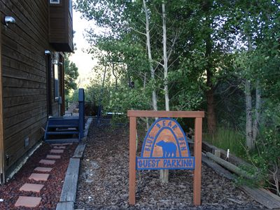 Photo for A BLUE BEAR DEN Incredible Riverside Mountain Vacation Experience APT