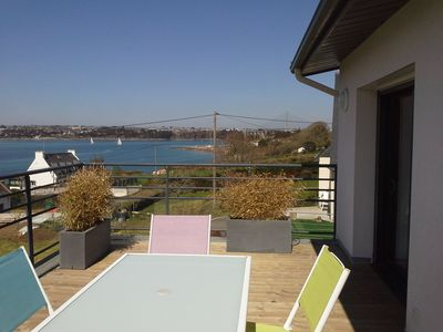 Photo for cottage 3 keys holidays sea view and brest in plougastel