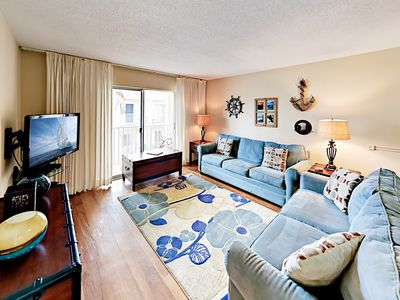 Living Room - Your stylish Siesta Key condo is professionally managed by TurnKey Vacation Rentals.
