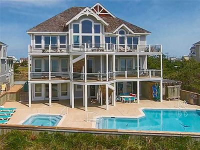 Photo for One-of-a-Kind Oceanfront Experience- Pool, Hot Tub, Elevator, Game Rm, Boardwalk