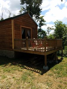Photo for REMOTE LOG CABIN MOUNTAIN TOP VIEWS RELAX STARGAZE HIKE FULLY FURNISHED HEAT A/C