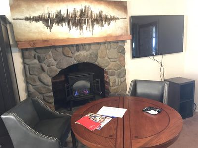 Comfy sitting spot for planning adventures, reading, laptops or a meal.