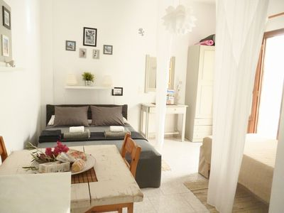 Photo for Charming studio with terrace for 3 people, 150 meters from the beach of Livadia
