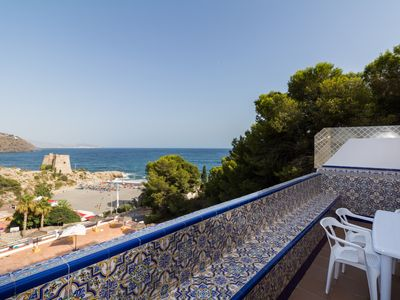 Photo for Apartment with sea views and pool