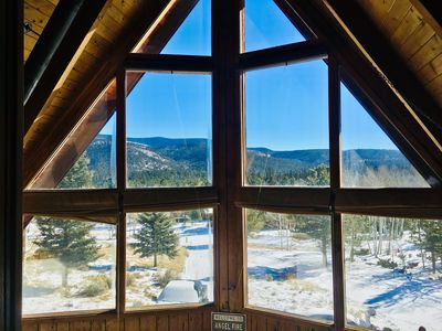 Photo for AspenGrove Lodge:  cabin on 2acres, views, wildlife, 5min to ski/lake/golf/hike